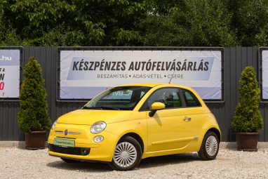 FIAT 500 1.2 8V Lounge Impozáns Yellow Limited Edition++
